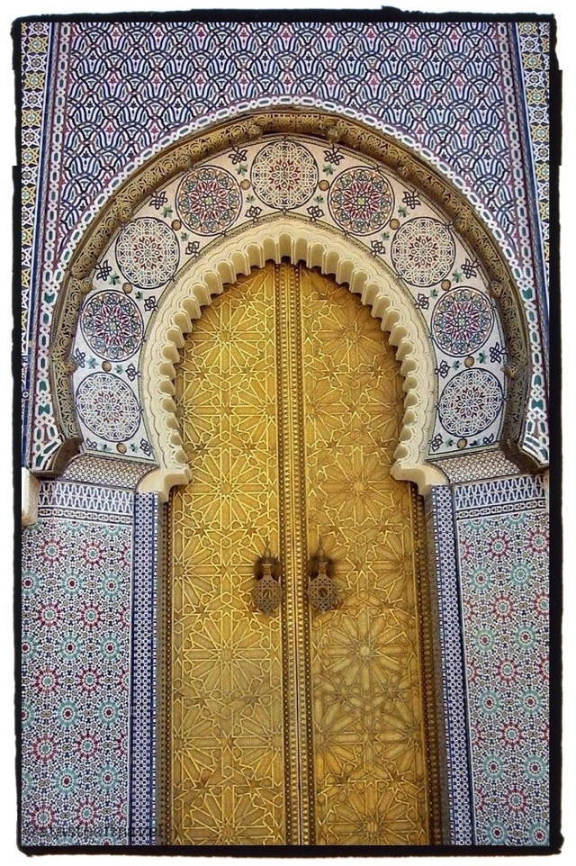 Postcard from....Fez is of the doorway of the Royal Palace