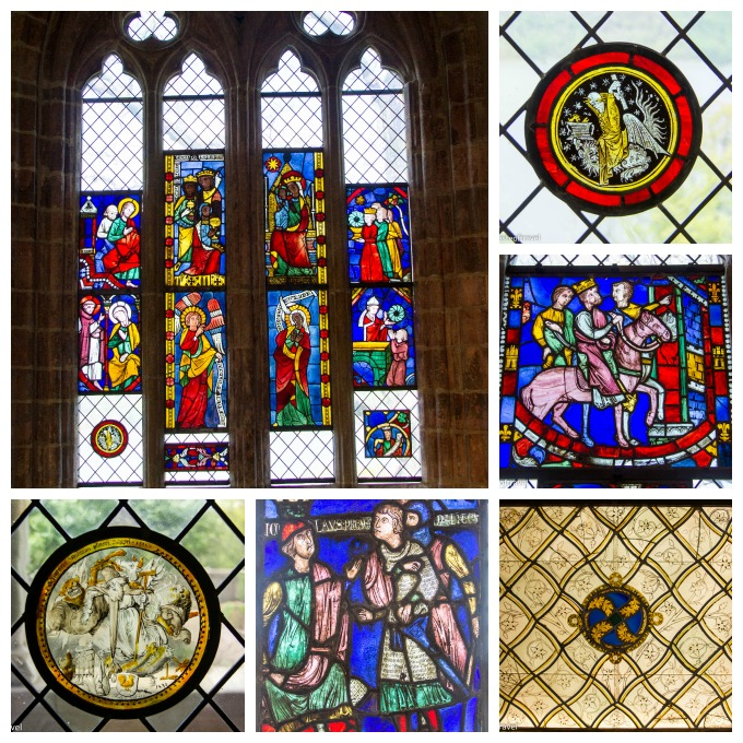 Stained glass at the Cloisters, New York