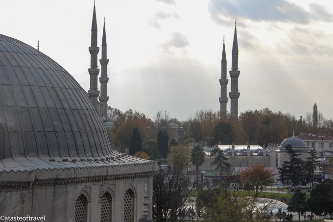 View from the Aya Sofia Museum, Istanbul over the Blue Mosque