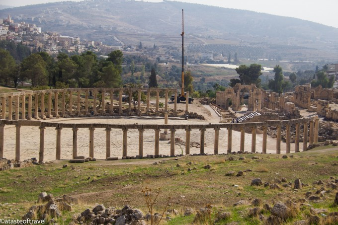 The view of the Forum in Jerash
