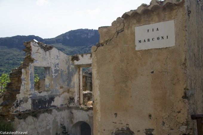 The abandoned village of Gairo Vecchio