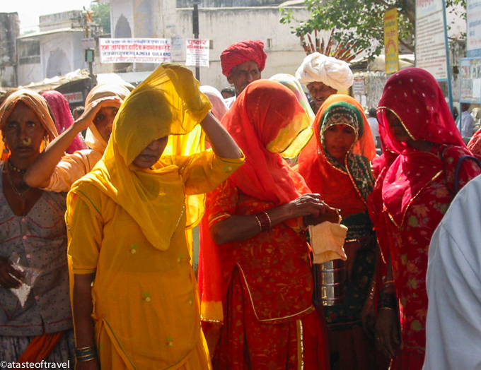 Women in the Market at Pushkar