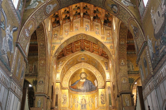Mosaics in the Monreale Cathedral, Sicily