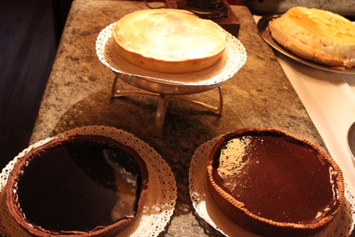 Home made tarts at Osteria del Binari in Milan