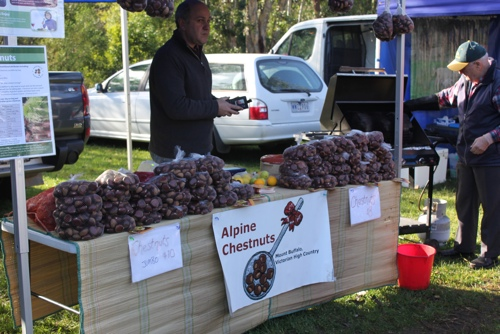 Chestnut Stall at the Collingwood Children's Farm Market in Melbourne