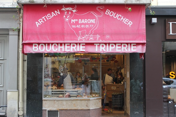 Mon. Barone the Artisan Boucher in Paris