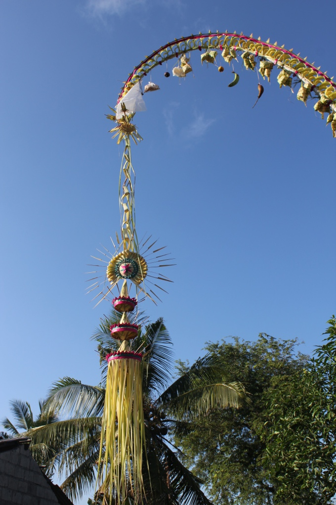Decorations on the panjor, Lembongan