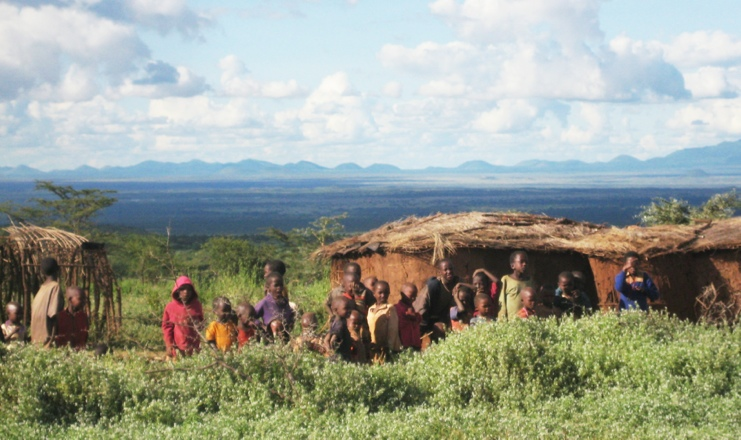 Masai Children in their village, Kenya