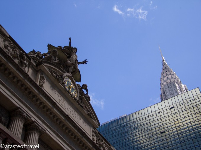 Grand Central Terminal and the Chrysler Building in New York