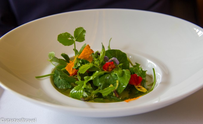 Caraway gnocchi with spring vegetables at Eleven Madison Park, New York York