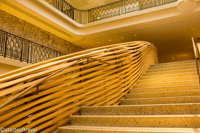 Staircase at Hermes in Paris