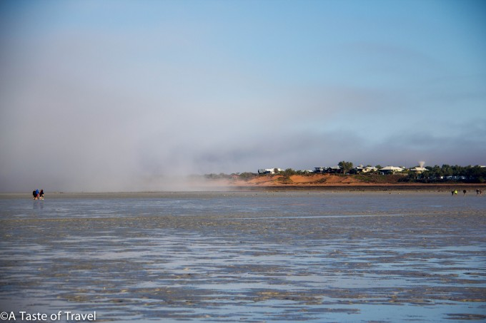 Mist coming in at Roebuck Bay, Broome