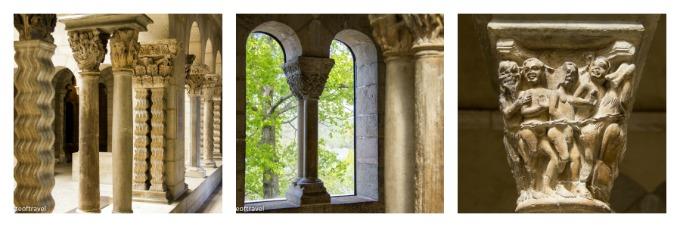 Features of the Saint-Guilhem-le-Désert Cloister at the Cloisters, New York