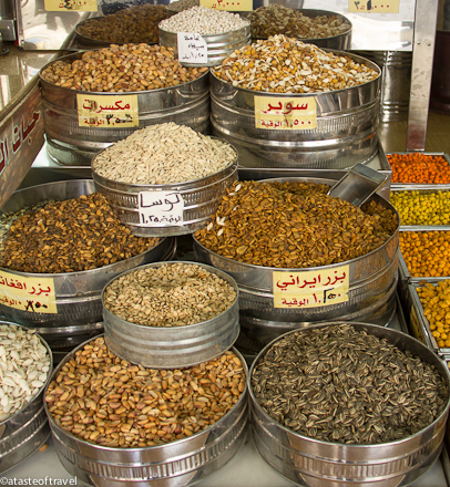 Shop selling nuts in Downtown Amman