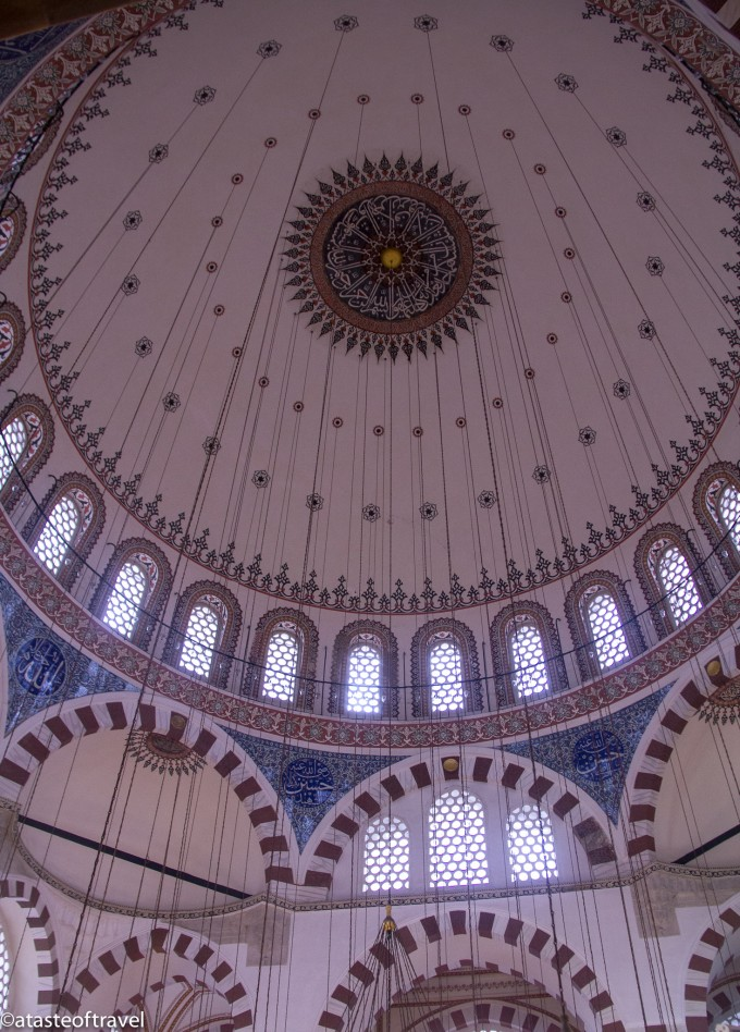 The dome of the Rüstem Pasha Mosque in Istanbul