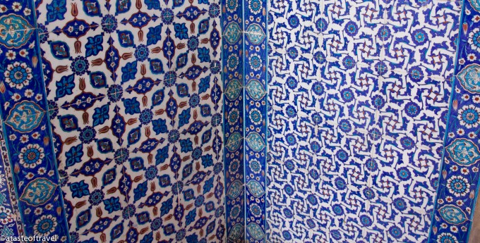 Iznik tiles at the Rüstem Pasha Mosque