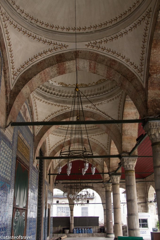 Under the terrace of the Rüstem Pasha Mosque in Istanbul