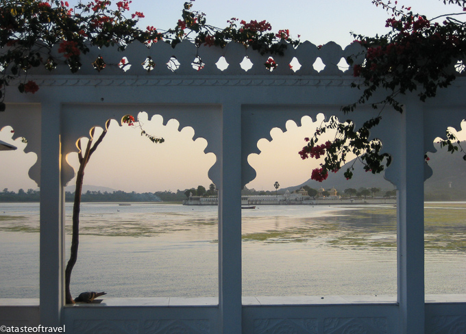 The view from the Lake Palace Hotel