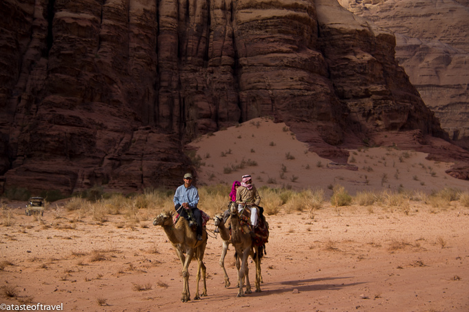 Camel riding in Wadi Rum, Jordan