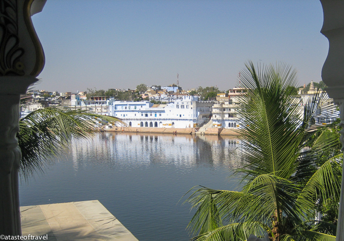 The view from the Pushkar Palace Hotel
